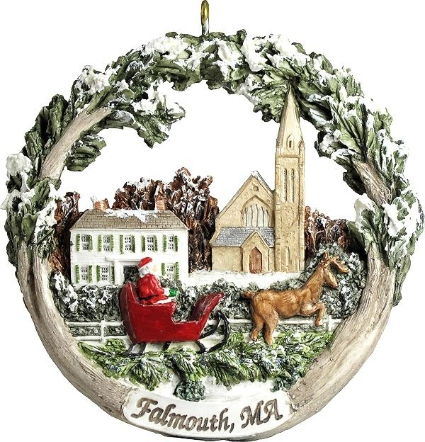 AmeriScape Ornament - Town Green in Winter, Falmouth, MA MA-FALM-AS-01757WYN01