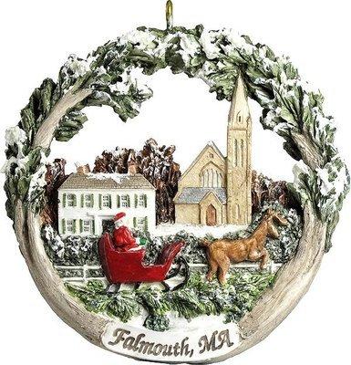 AmeriScape Ornament - Town Green in Winter, Falmouth, MA