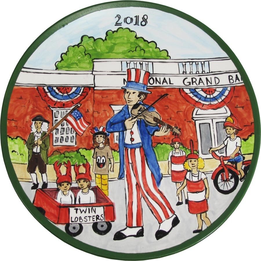 2018 Marblehead Annual Ceramic Plate - Horribles Parade MA-MARB-CR-02018-PLUD