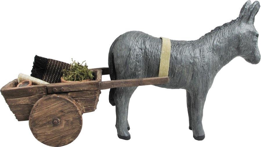New - Nativity Accessory - Donkey Cart