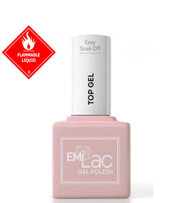 E.MiLac Easy Soak Off Top Gel, 9 ml.