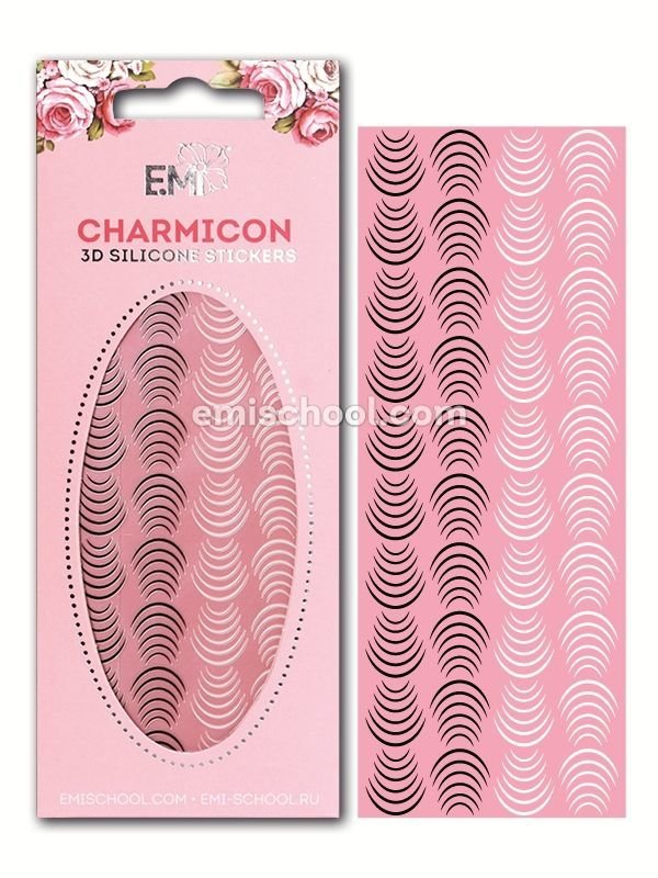 Charmicon 3D Silicone Stickers Lunula #26 Black/White
