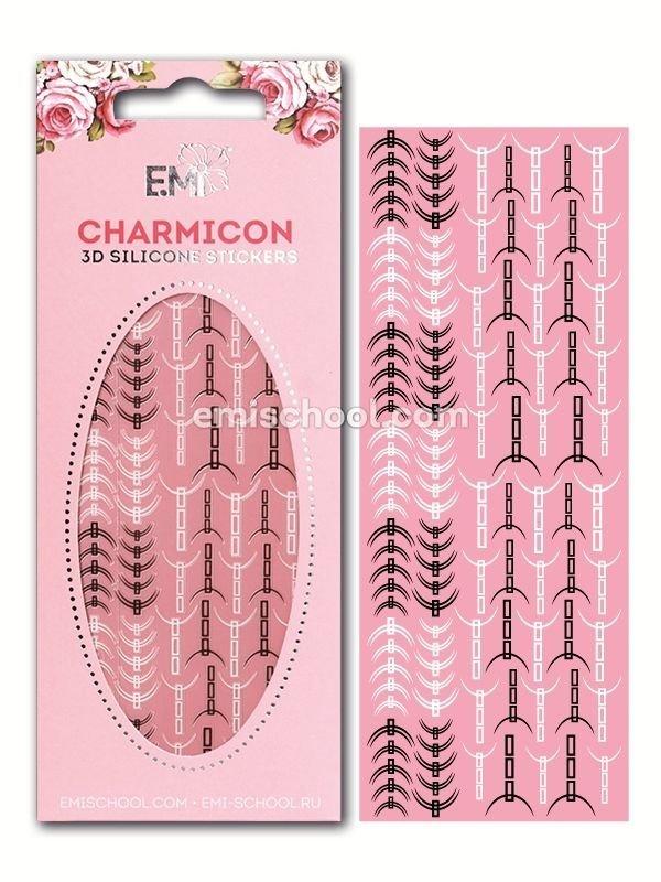 Charmicon 3D Silicone Stickers Lunula #32 Black/White