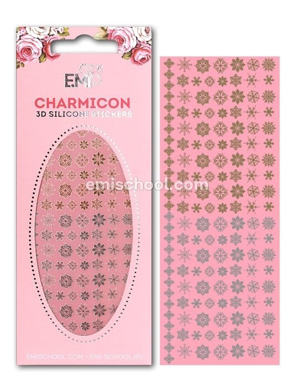 Charmicon 3D Silicone Snowflakes #1 Gold/Silver