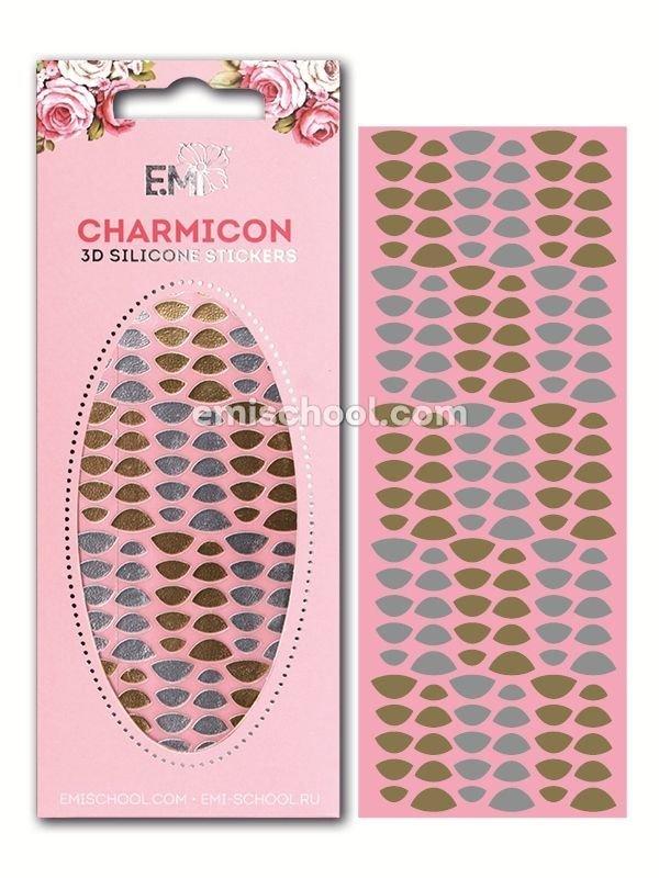 Charmicon 3D Silicone Stickers Lunula #7 Gold/Silver