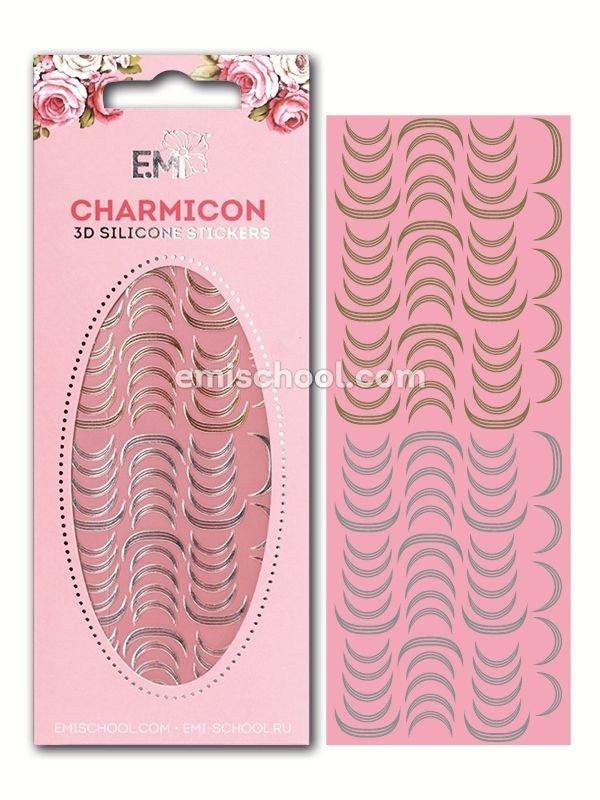 Charmicon 3D Silicone Stickers Lunula #11 Gold/Silver