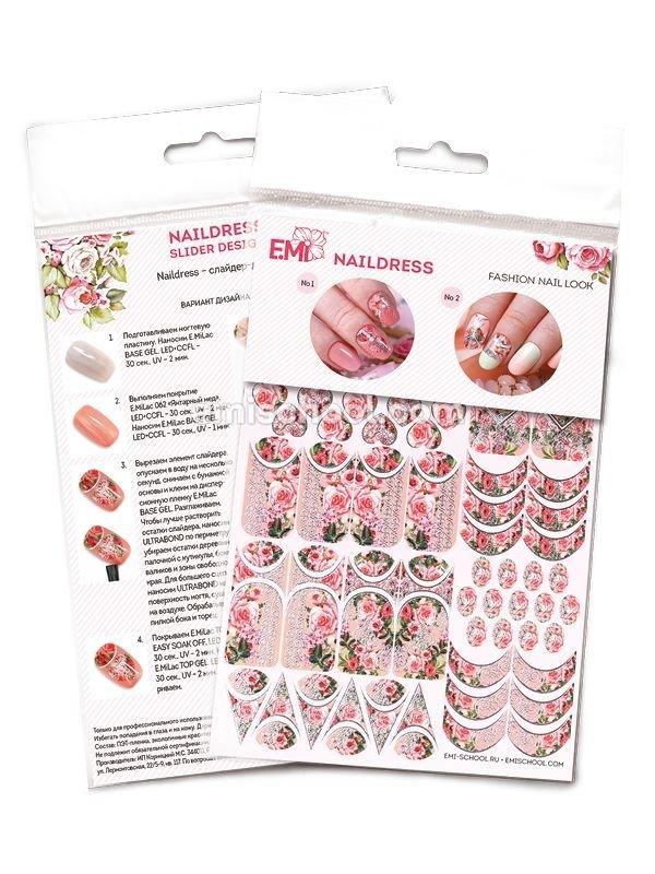 Naildress Slider Design Peach Roses