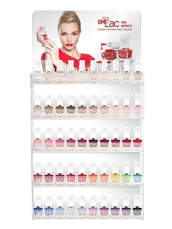 Display E.MiLac Nail Polish Gel Effect 50 colors