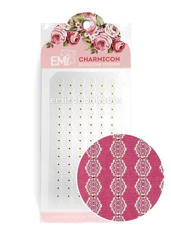 Charmicon 3D Silicone Stickers Ornament White #3