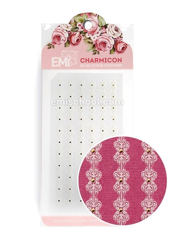 Charmicon 3D Silicone Stickers Ornament White #4