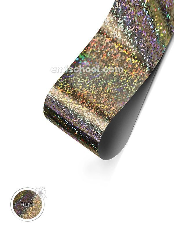 Foil holographic silver Small Crystals, 1.5 m