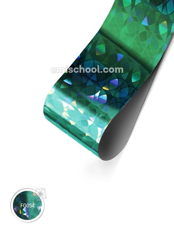 Foil holographic Turquoise Сircles, 1.5 m