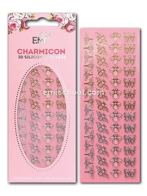 Charmicon 3D Silicone Stickers Insects Gold/Silver