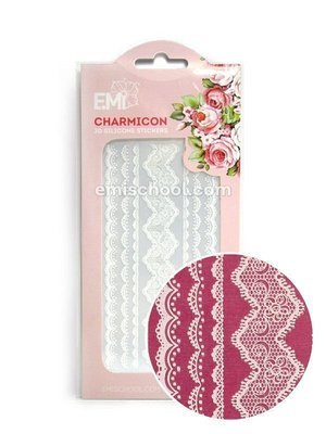 Charmicon 3D Silicone Stickers Lace White
