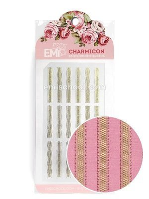 Charmicon 3D Silicone Stickers Ornament Gold #3