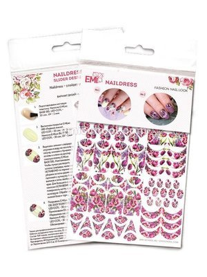 Naildress Slider Design Spring Bouquet