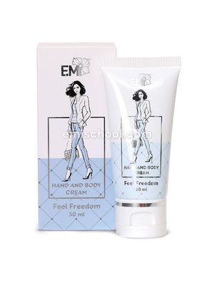 Hand and Body Cream Feel Freedom, 30 ml.