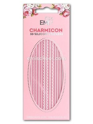 Charmicon 3D Silicone Stickers Lace MIX White #3