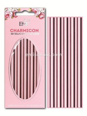 Charmicon 3D Silicone Stickers Chain #9 Black/White