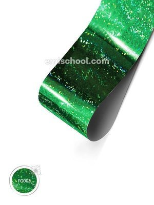 Foil holographic green Fine point, 1.5 m.