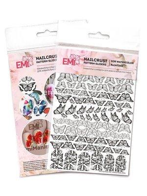 NAILCRUST Pattern Sliders Butterflies #34