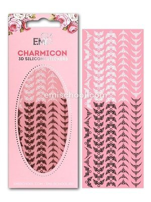 Charmicon 3D Silicone Stickers Lunula #20 Black/White