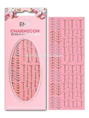 Charmicon 3D Silicone Stickers Lunula #31 Gold/Silver