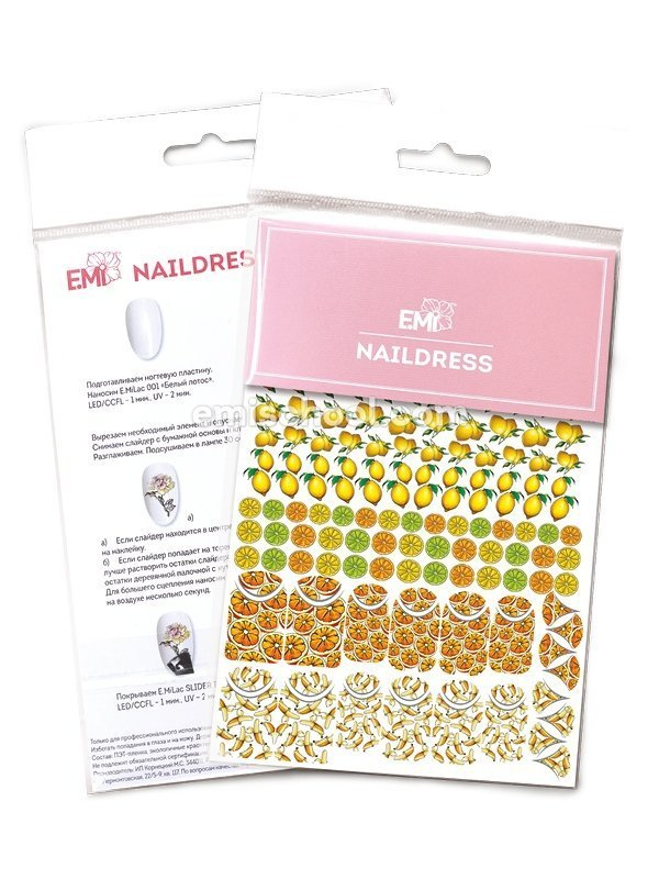 Naildress Slider Design #7 Citrus