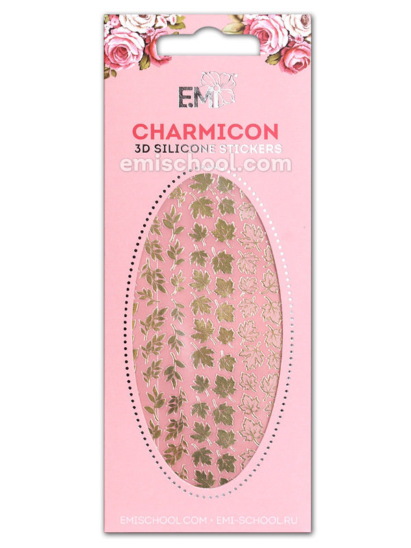 Charmicon 3D Silicone Stickers #65 Leaves Gold