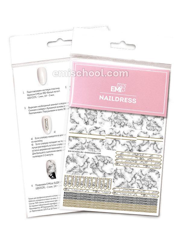Naildress Slider Design #20 White marble