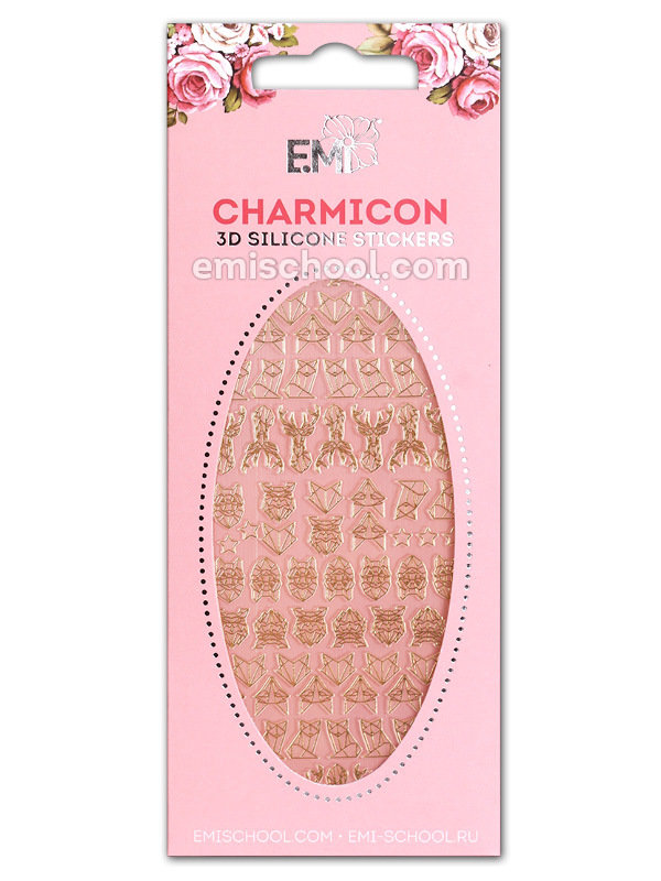Charmicon 3D Silicone Stickers #74 Animals. Graphics
