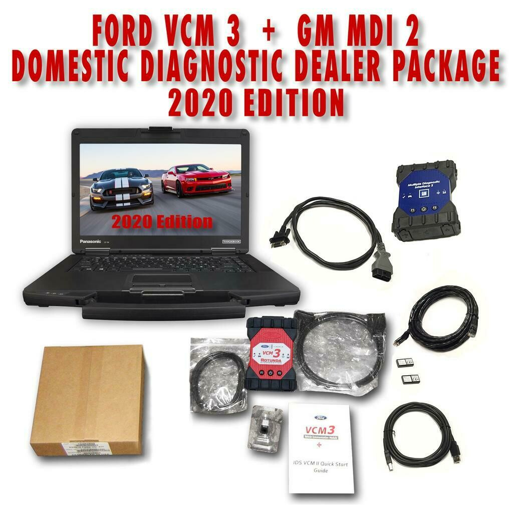 Ford VCM 3 + GM MDI 2 Domestic Diagnostic Dealer Package