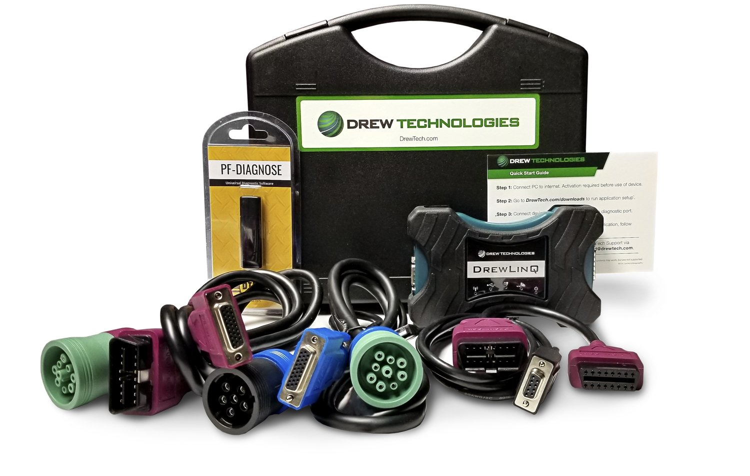 DrewLinQ with Pocket Fleet for Heavy Duty Truck Diagnostics
