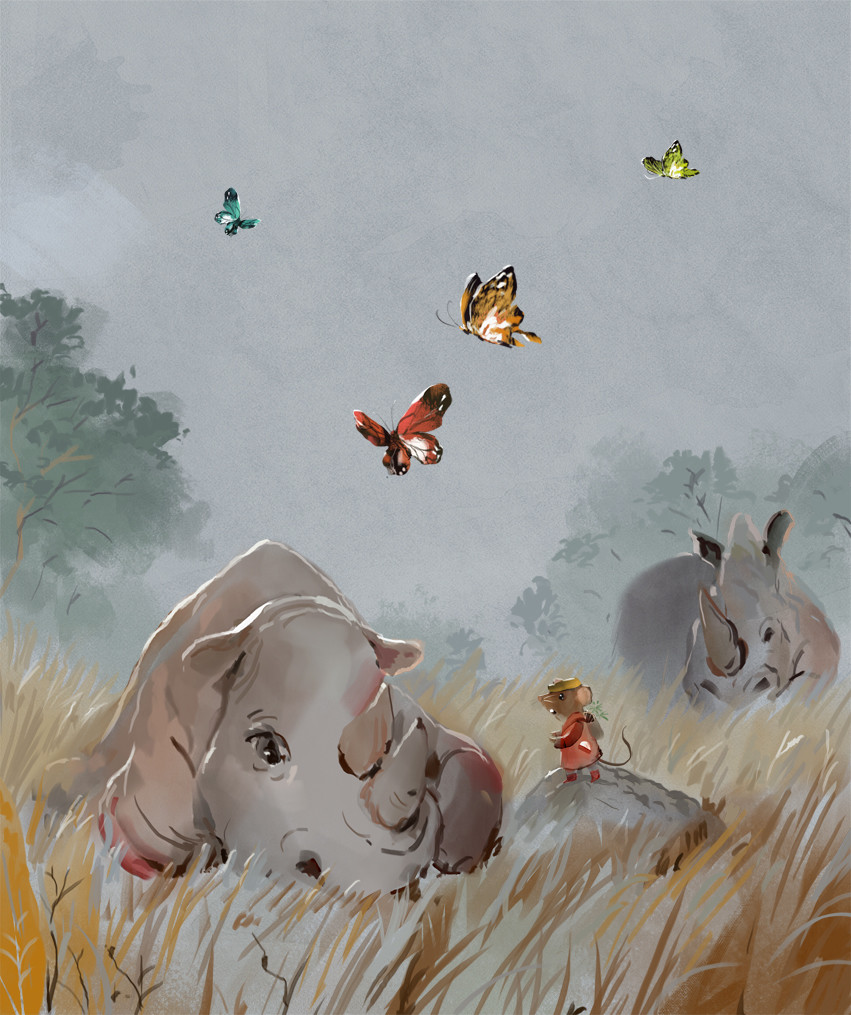 Mr Brown Mouse Meets A Hurt Rhino