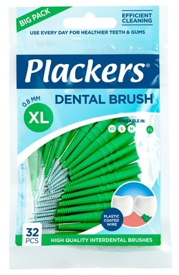 Межзубные ершики Plackers Dental Brush XL 0,8 мм (32 шт)