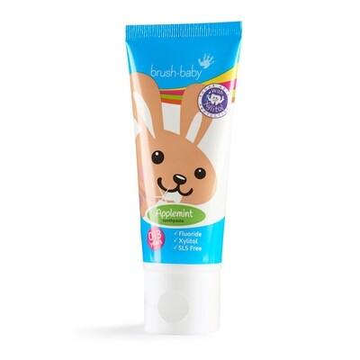 Зубная паста детская Яблоко/Мята Brush Baby, 50 мл (0-3 лет)