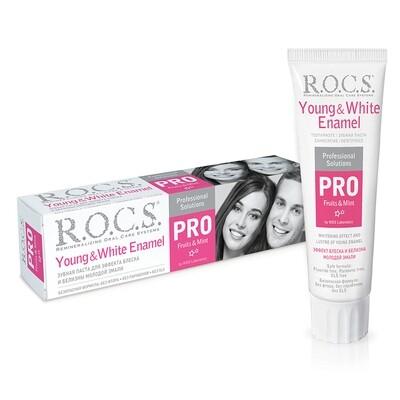 Зубная паста ROCS (РОКС) PRO Young & White Enamel, 135 гр