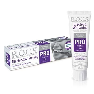 Зубная паста ROCS (РОКС) PRO Electro & Whitening Mild Mint 135 гр