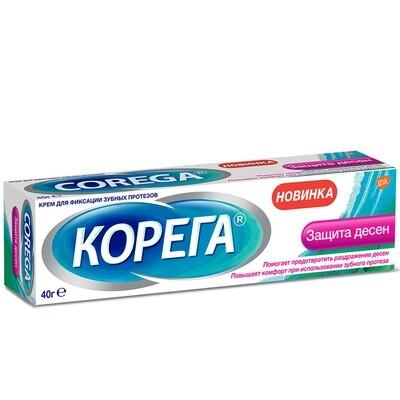 Корега крем для фиксации зубных протезов Защита десен, 40 г