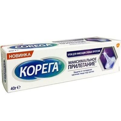 Корега крем для фиксации зубных протезов Максимальное Прилегание, 40 г