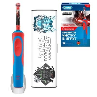 Электрическая зубная щетка Oral-B Vitality Kids Stages Power Звездные войны (с 3 лет) с футляром