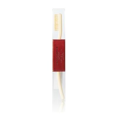 Зубная щетка ACCA KAPPA с натуральной щетиной средней жесткости (цвет Ivory White)