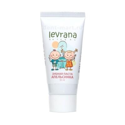 Детская гелевая зубная паста Levrana Апельсинка, 50мл
