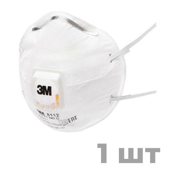 Респиратор 3М 8112 КЛАСС ЗАЩИТЫ FFP1 с клапаном выдоха (1 шт)