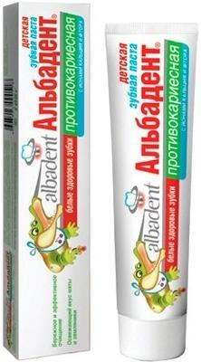 Детская зубная паста Альбадент Противокариесная (с 6 лет)