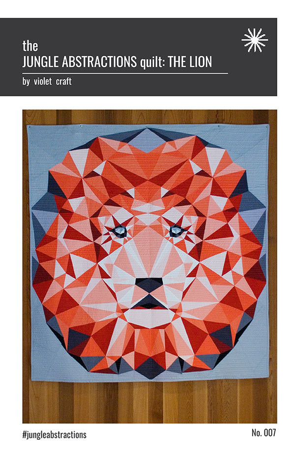 Jungle Abstractions Quilt: THE LION 60