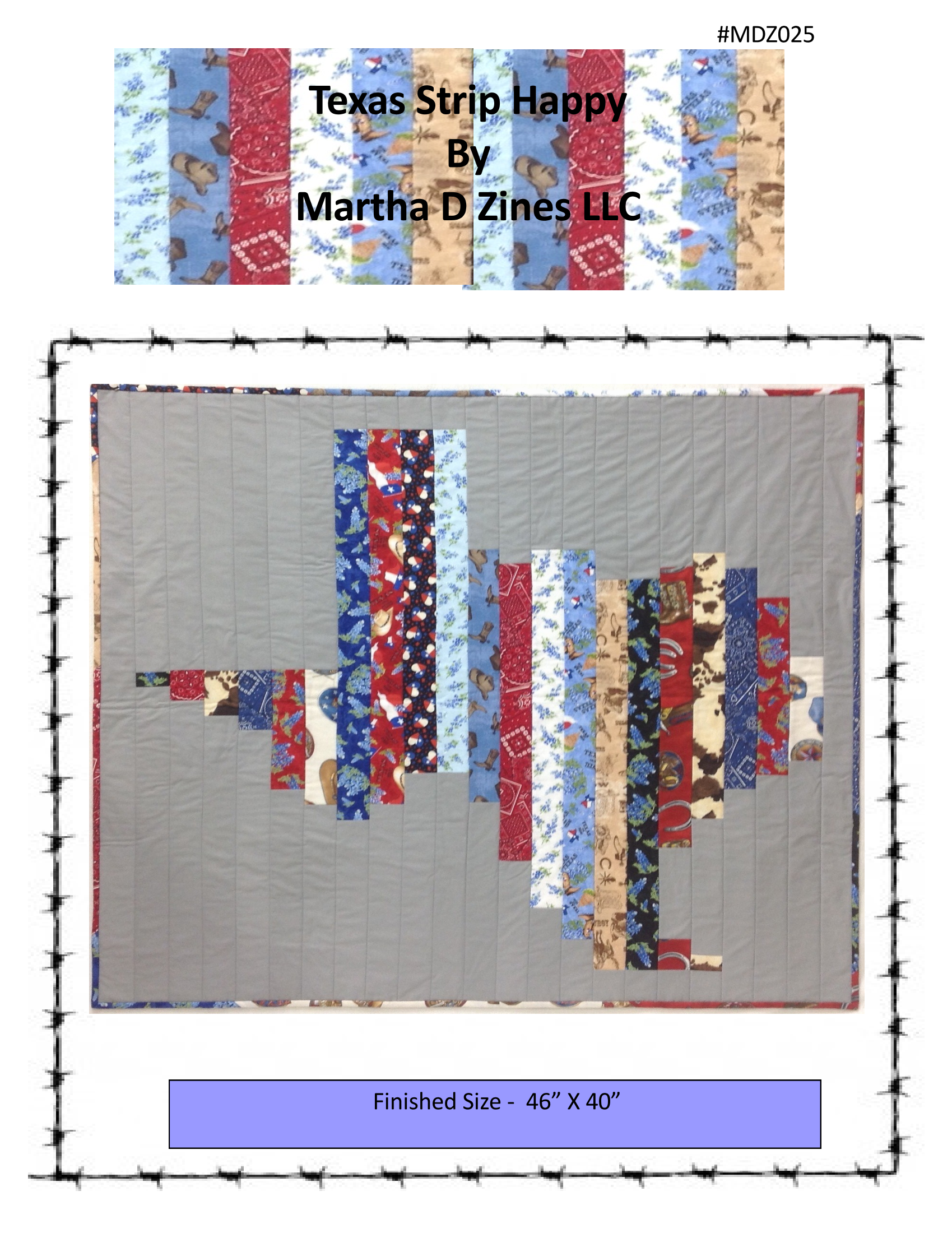 Texas Strip Quilt Pattern TXS-MDZ025-PAT
