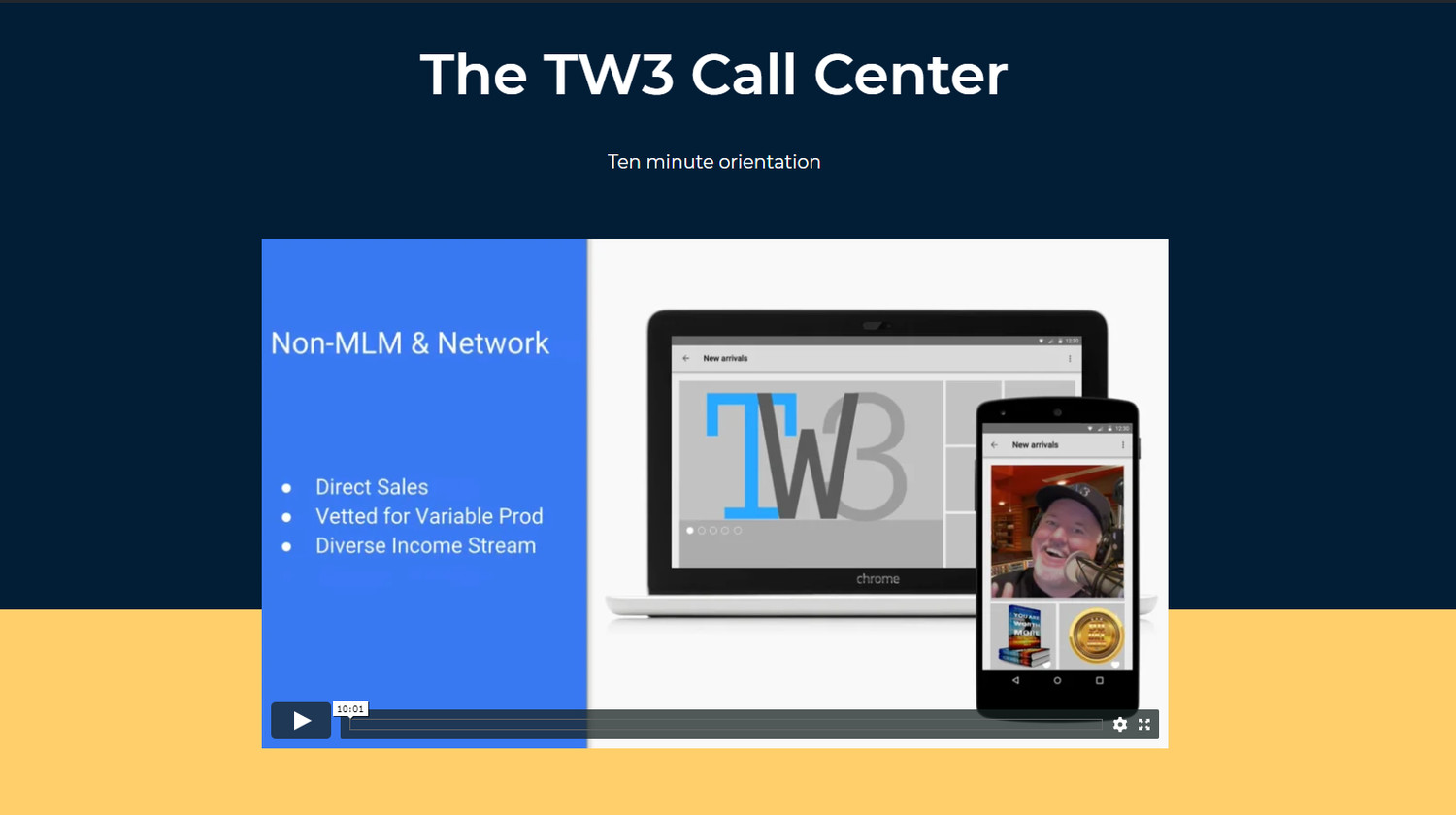 TW3 Coaching Stand Alone Landing Page - (for text and email marketing campaigns)