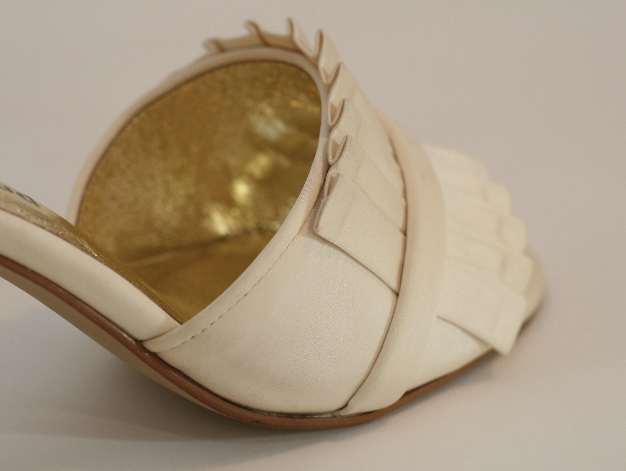 Chelsea Ivory Satin - Toe