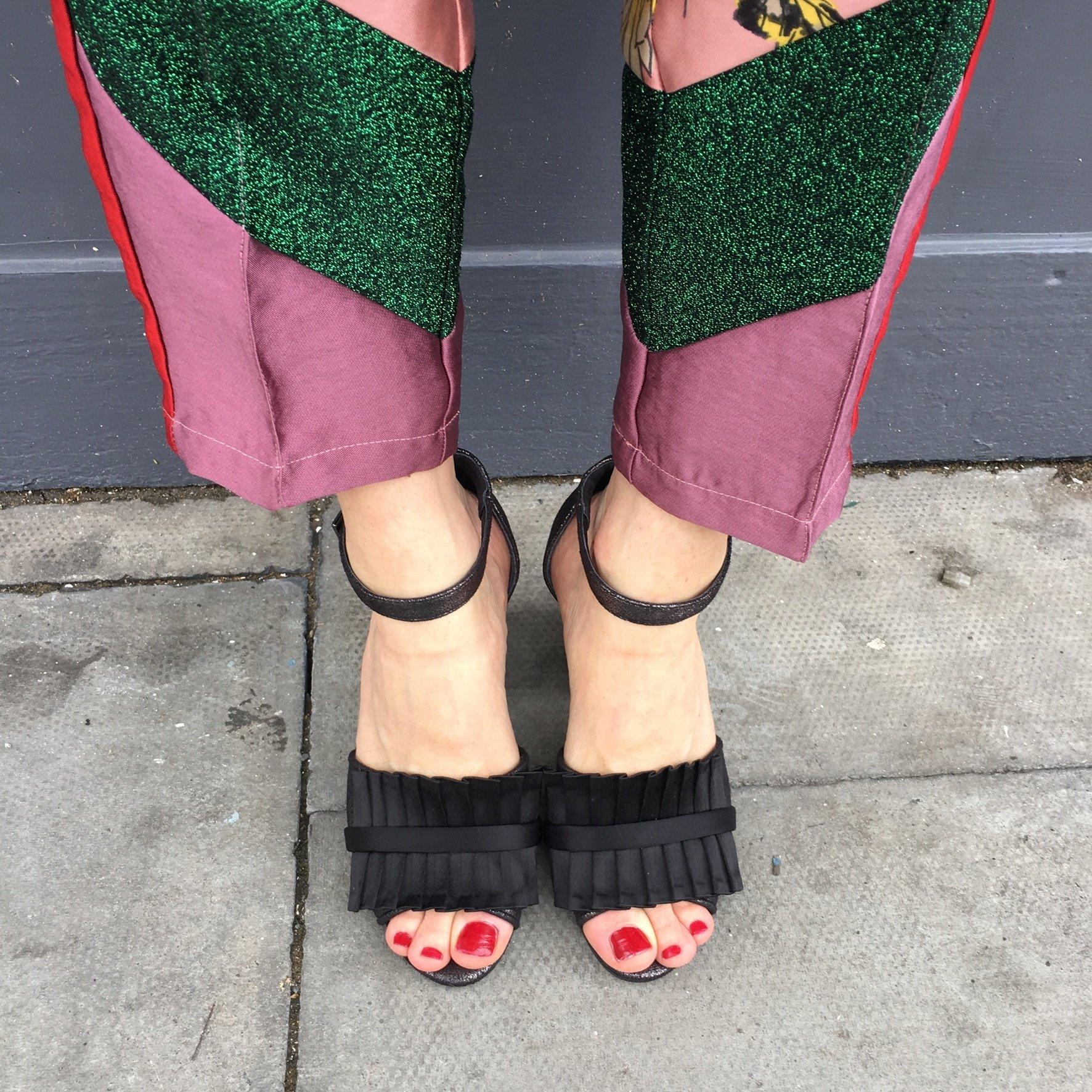 Pearl&stud Chelsea black block heel